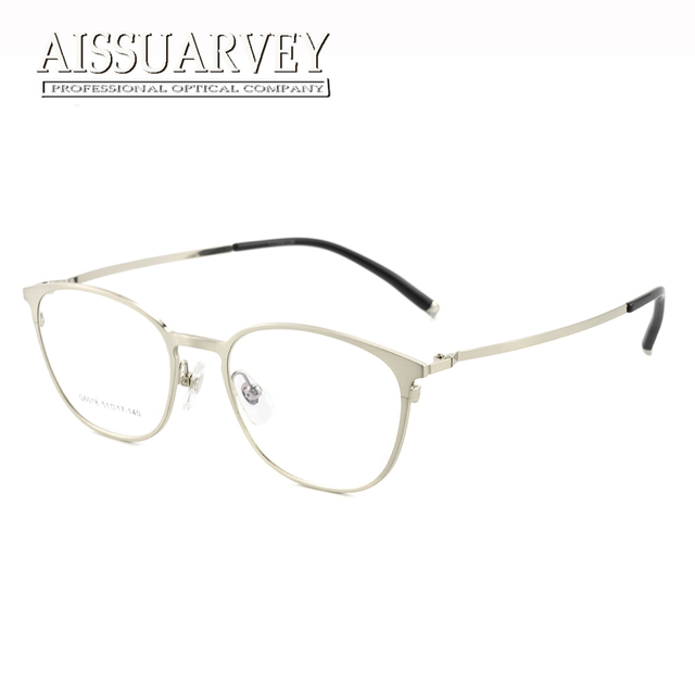 5abbcfa2c Glasses Frame Optical Full Rim Titanium Alloy Round Metal Brand Designer  Light Simple Vintage Circle Prescription