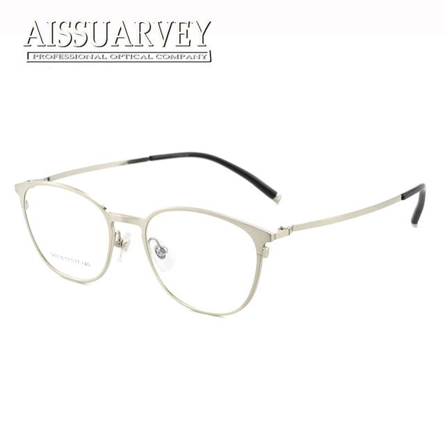 8b13cb986e Titanium Alloy Glasses Frames Men Women Optical Full Rim Round Metal Brand  Designer Simple Vintage Prescription Eyewear Goggles