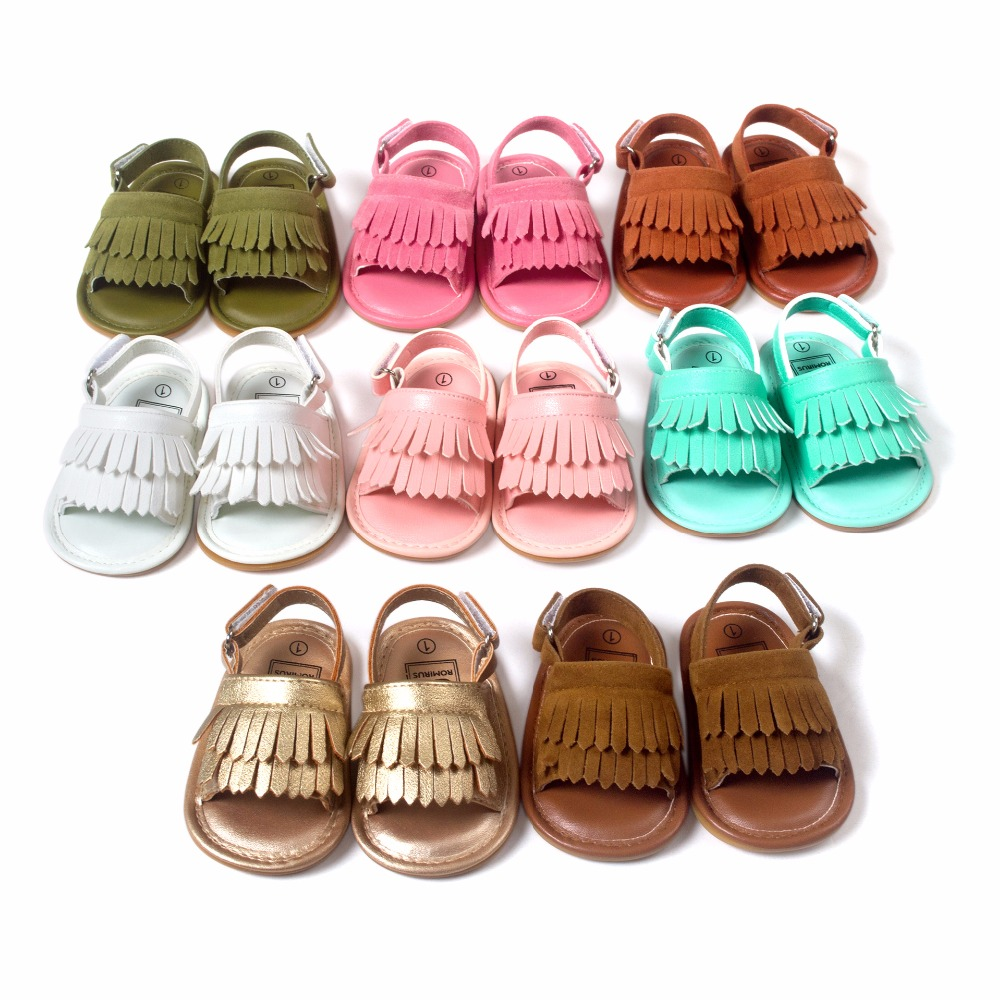 ROMIRUS Baby Shoes Sandals Casual Fashion PU Tassel Sandals For Children kids Girls Boys Multicolor Option
