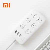 100 Original Xiaomi Smart Power Strip 2 1A Fast Charging 3 USB Extension Socket Plug 6