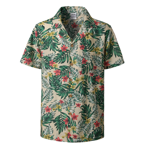 Men Hawaiian Shirt Aloha Party Summer Stag Beach Holiday Tropical Stripe Top Tee
