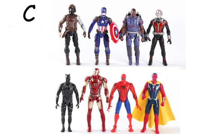 -centimeter The Avengers Mobile Articles Toys America Captain Iron Man Spiderman Ant -man Hawkeye Brilliant Action Figures Toy | american girl doll