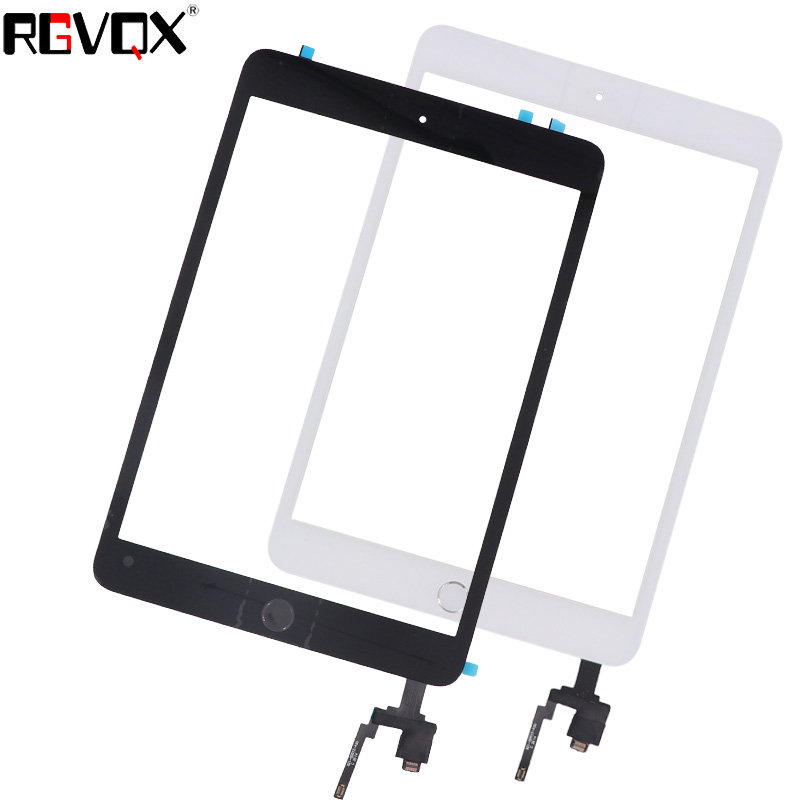 NEW Touch Screen Digitizer For iPad Mini 3 A1599 A1600 A1601 TP IC with Home Button and Adhesive Front Glass Replacement new touch screen digitizer for ipad 3 tp glass screen original normal front glass replacement with free shipping