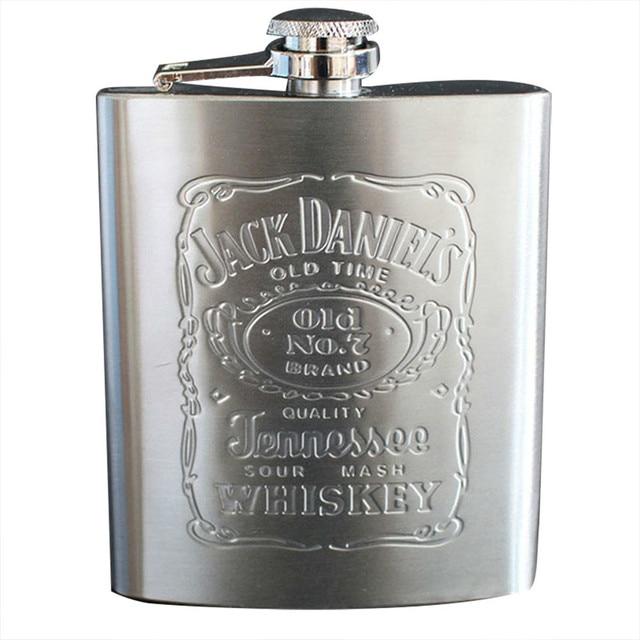 Hot sale Portable Hip Flask 7oz stainless steel Flask Bottle silver whiskey alcohol liquor bottle Male Mini Bottle
