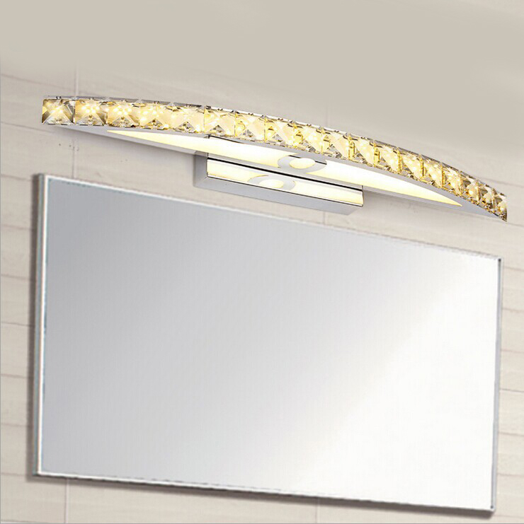 SinFull Modern crystal LED Mirror Lights Makeup room High Quality 10/15W Stainless Steel LED Mirror Front lighting sconce 2014 high quality new inventions crystal magic mirror lightbox led