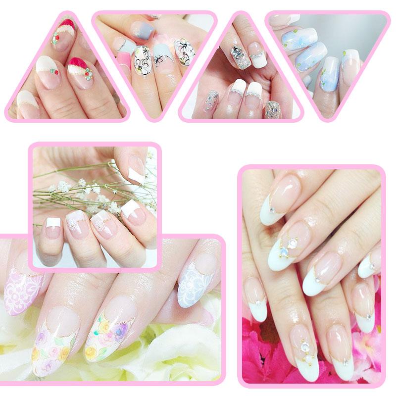 Elite99 7.3ml Nail Gel Polish French Manicure Kit Set Free Tip ...