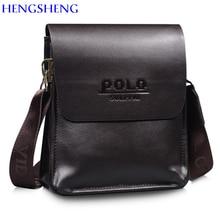 HENGSHENG Newly design PU font b Leather b font men shoulder bags with fashion business men