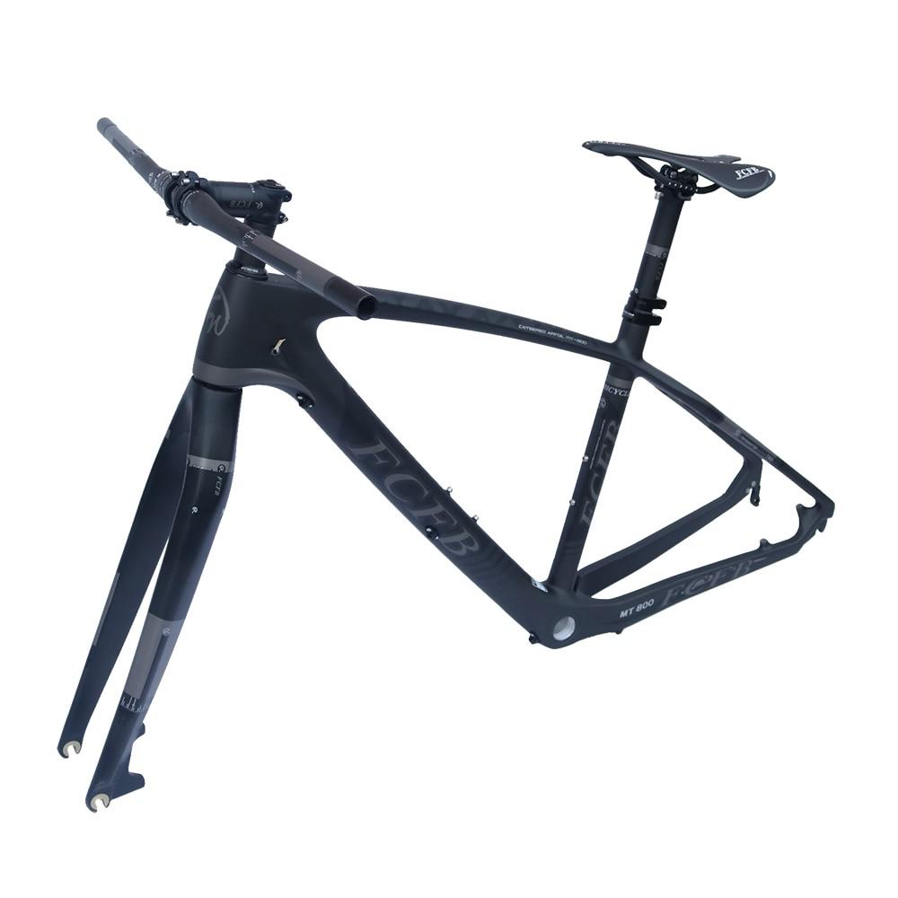 2017 FCFB  T800 Carbon Mtb Frame 26.5/27er Mtb Carbon Frame  Carbon Mountain Bike Frame 142*12 Or 135*9mm Bicycle Frame Matt