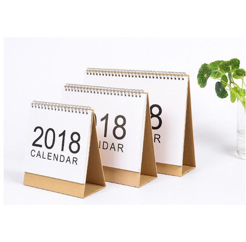 HIINST 2018 Desktop Flip Calendar Month To View Stand Up Office Home Table Planner dropship p30 may23