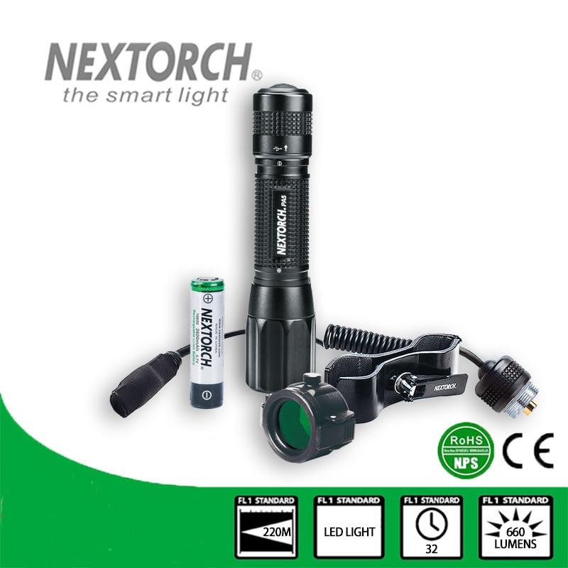 NEXTORCH Fresnel Lens Focus Adjustable Flashlight 660 Lumen LED Bulb USB Rechargeable Shock Resistant Law enforcement # PA5 SET
