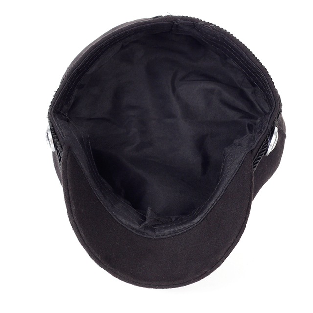 971e828a 2017 Winter Wool Felt Military Beret Caps Navy Hats Snapback Visor Black  Berets Hats for Women