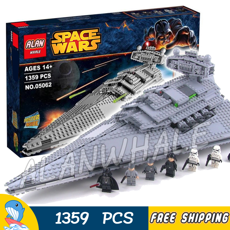 1359pcs Space Wars Imperial Star Destroyer Set Universe Galaxy 05062 Model Building Blocks Toys Bricks Game Compatible With Lego