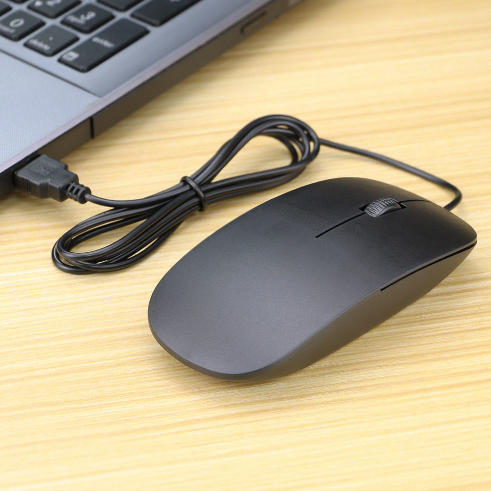 Ultra Thin USB Wired Mouse 1200dpi 3D Optical Gaming Mice Mouses For PC Laptop Notebook Computers Mini Mouse For Office Home