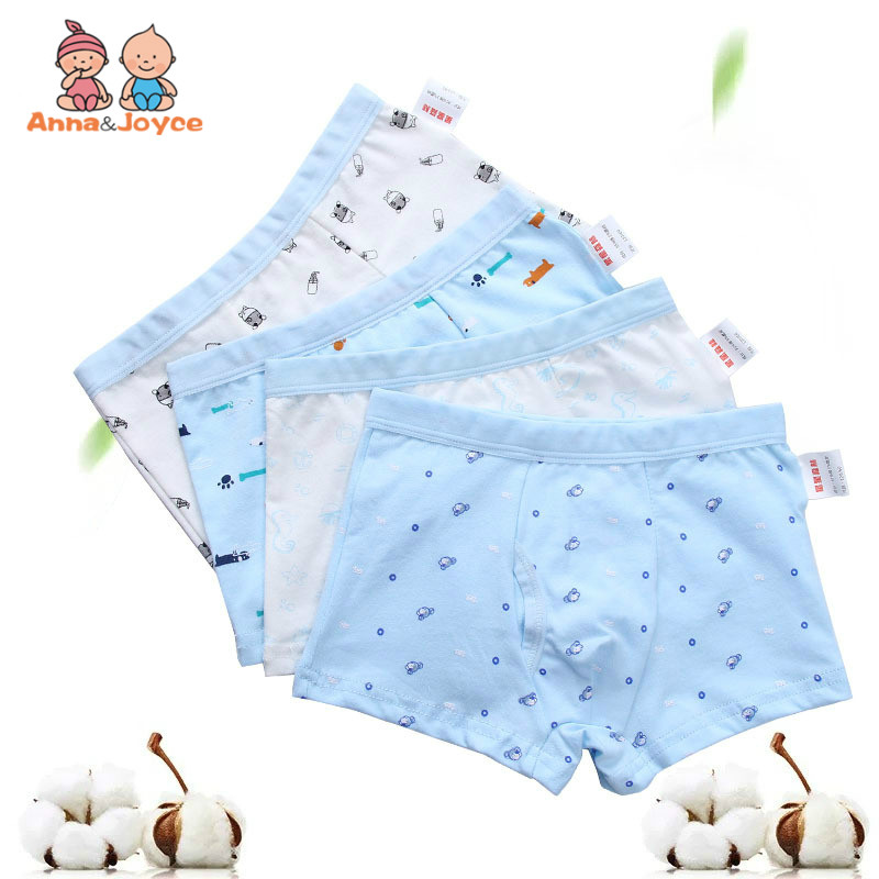 4Pcs/Lot New Boy Boxer Cartoon Underwear Boxer Cotton Soft Children's Cartoon Shorts LHTNM422