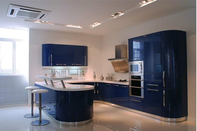 Online buy wholesale blue kitchen cabinet from china blue for Cuisine formica bleu
