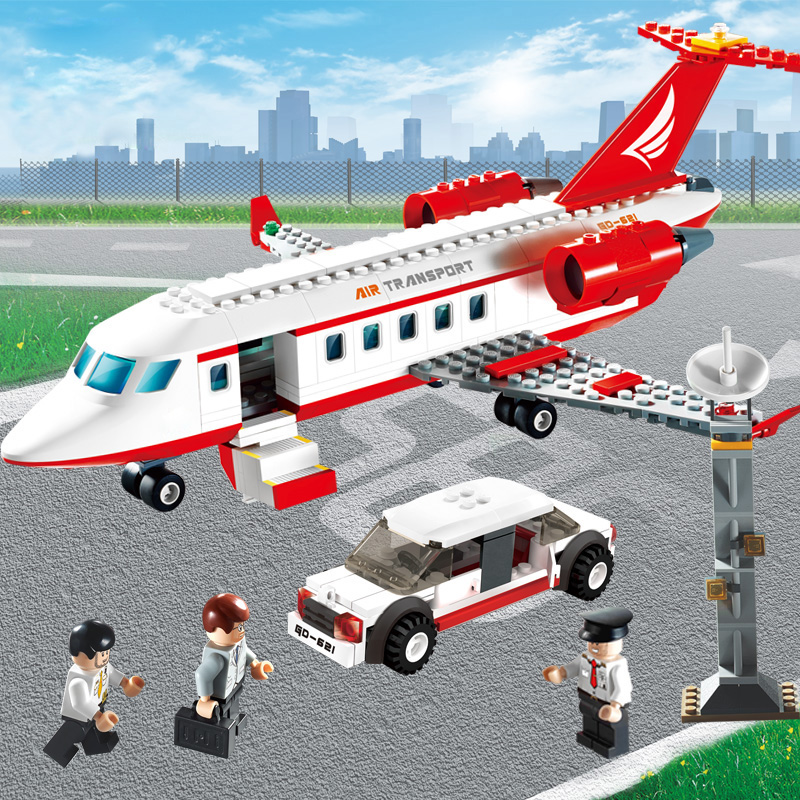 GUDI 334 pcs Airplane Toy Air Bus Model Airplane Building Blocks Set - Mainan pembinaan