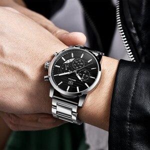 Image 5 - 2020 BENYAR למעלה מותג יוקרה גברים של שעונים מקרית אופנה הכרונוגרף ספורט צבאי קוורץ שעון יד שעון Relogio Masculino