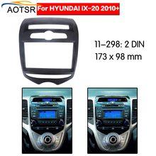 Radio Facia Voor 2010 + Hyundai IX20 2DIN dvd-speler Fascia Car Stereo Radio Installatieprocedure Dash