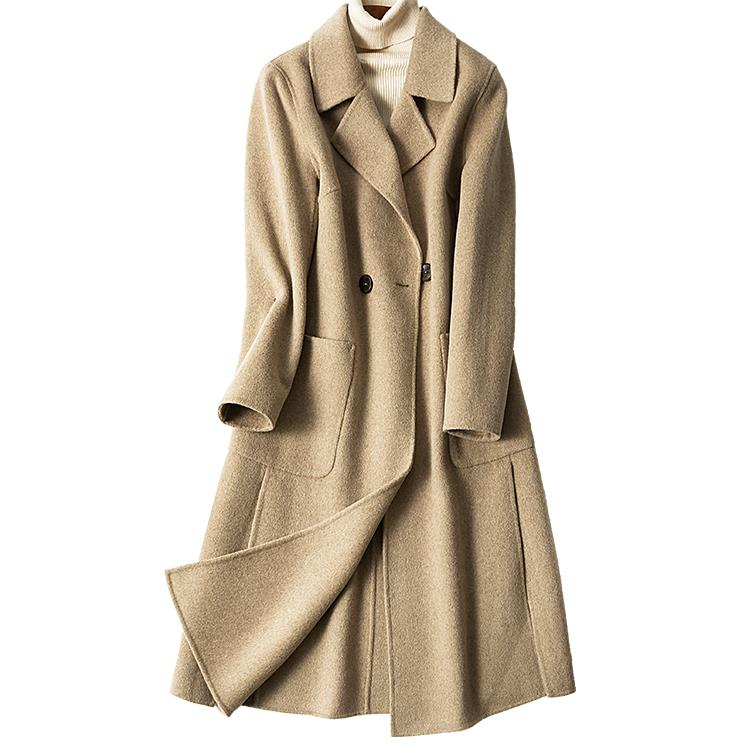 Couture Chart Cachemire De 2018 Avec Double Pour En Garder Manteau Au see grade Chart Hiver See Face Haute Chaud Robe Sobretudo Tempérament wHX4Bxq0