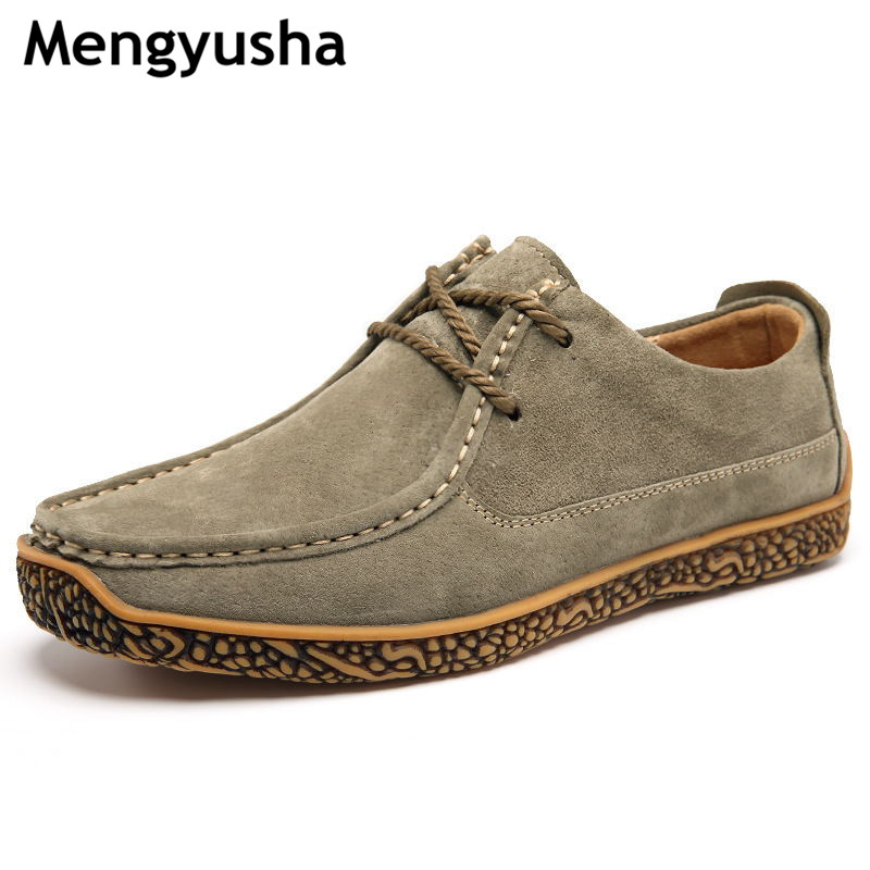 Autumn   leather   driving shoes men's casual shoes   leather   sailing shoes   suede   snail shoes British youth fashion
