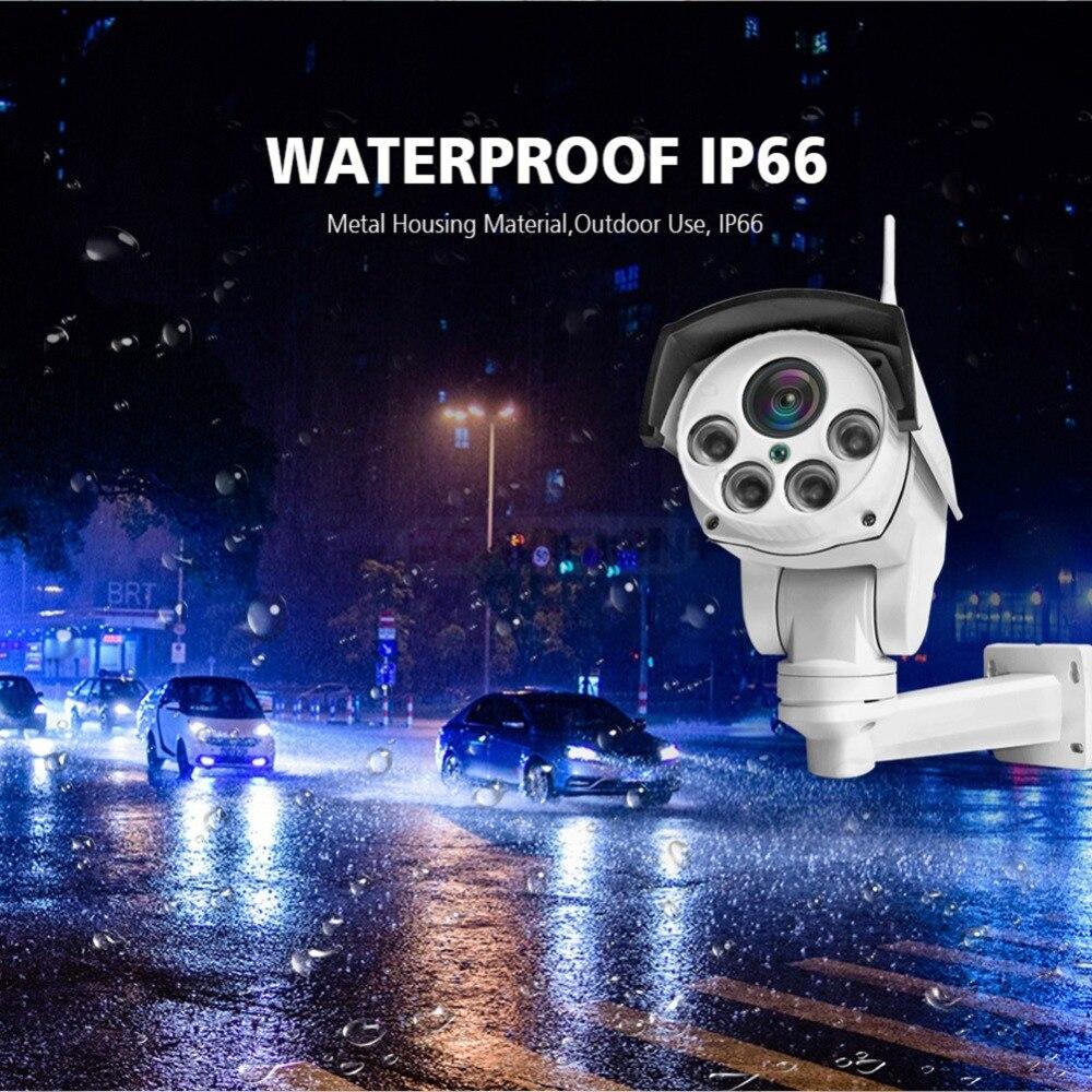 HD 1080 P bala Wifi IP PTZ cámara de Audio 5X/10X Zoom óptico de enfoque de la lente 2MP CCTV inalámbrico cámara IP al aire libre Onvif CamHi - 4