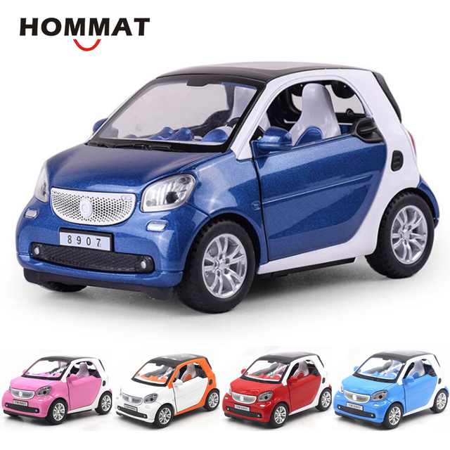 Hommat Simulation 1 24 Mini Smart Fortwo Model Vehicle Alloy Metal Cast Car Collection Gift Cars Toys For Children Kids