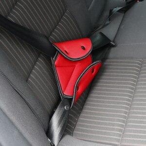 Image 5 - Onever車トライアングル安全ベルト固定器カバーパッド用ベビーキッズシートベルトアジャスター子ネックショルダーハーネスストリッププロテクター