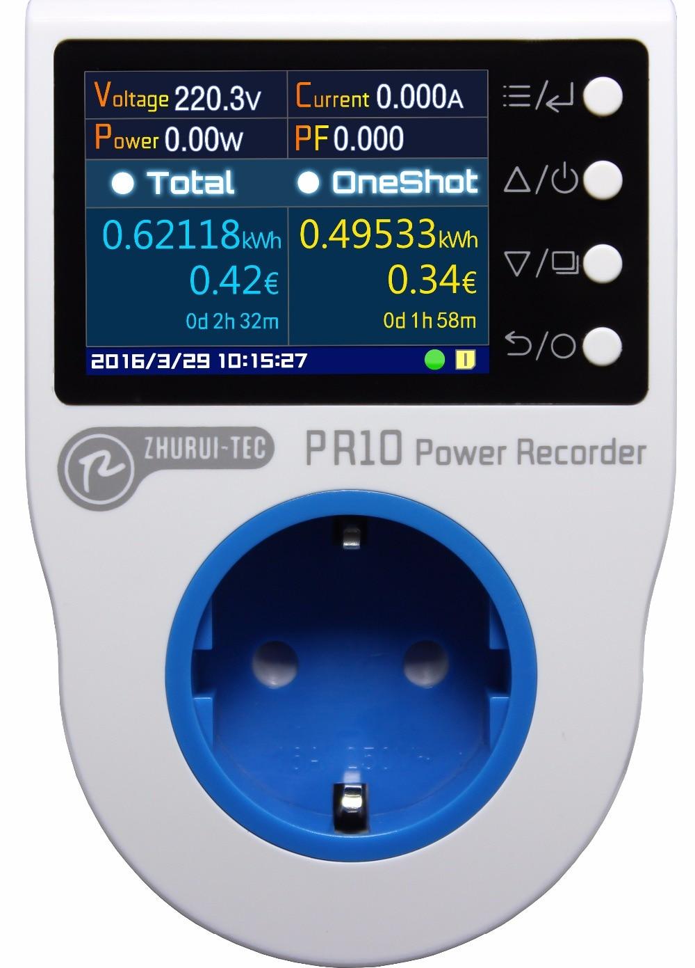 PR10-C EU16A (prise allemande) prise de mesure de puissance à domicile/compteur d'énergie domestique/enregistreur de puissance/compteurs d'électricité/16 unités de monnaie