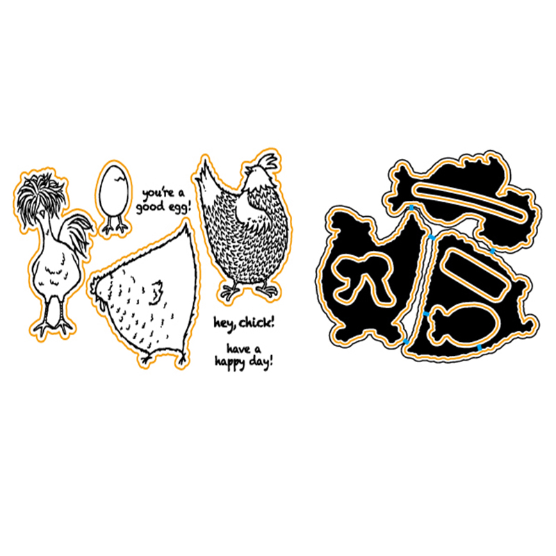 Chick's Life Metal Cutting Dies Clear Stamp Set for DIY Scrapbooking/photo Album Decorative Craft Clear Stamp Chapter christmas holiday wishes clear silicone rubber stamp for diy scrapbooking photo album decorative craft clear stamp chapter