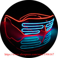10 Pcs Led Luminous Voice Control Party Glasses El Wire Light Up Colorful Stage Performance DJ Dance Wear