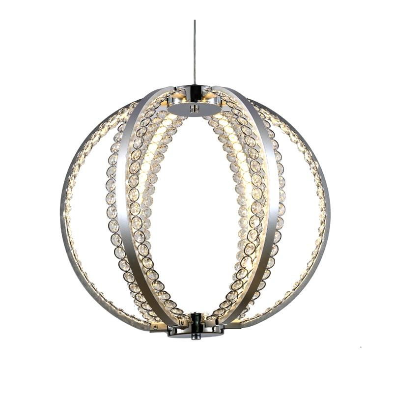 brief design modern LED chandelier crystal LED lamp round chandelier dinning room light fixtures