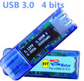 USB detector de Alta tensão 3.0 4 bit OLED QC 2.0 detector Digital voltímetro amperímetro tester medidor de tensão atual potência