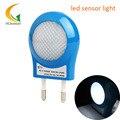Mini luz conduzida da noite AC110V-220V 0.7 W Controle de sensor Automático de luz do quarto do bebê luz da noite levou sensor de luz EU Plugue Noite lâmpada