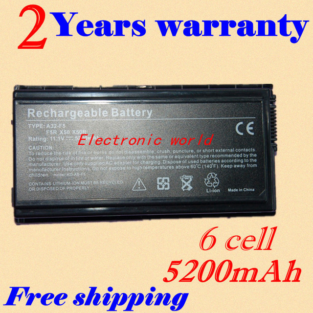JIGU Replacement Laptop Battery For ASUS 90-NLF1B2000Y A32-F5 F5 Series F5C F5GL F5M F5N F5R F5RI F5SL F5Sr F5V F5VI F5VL F5Z