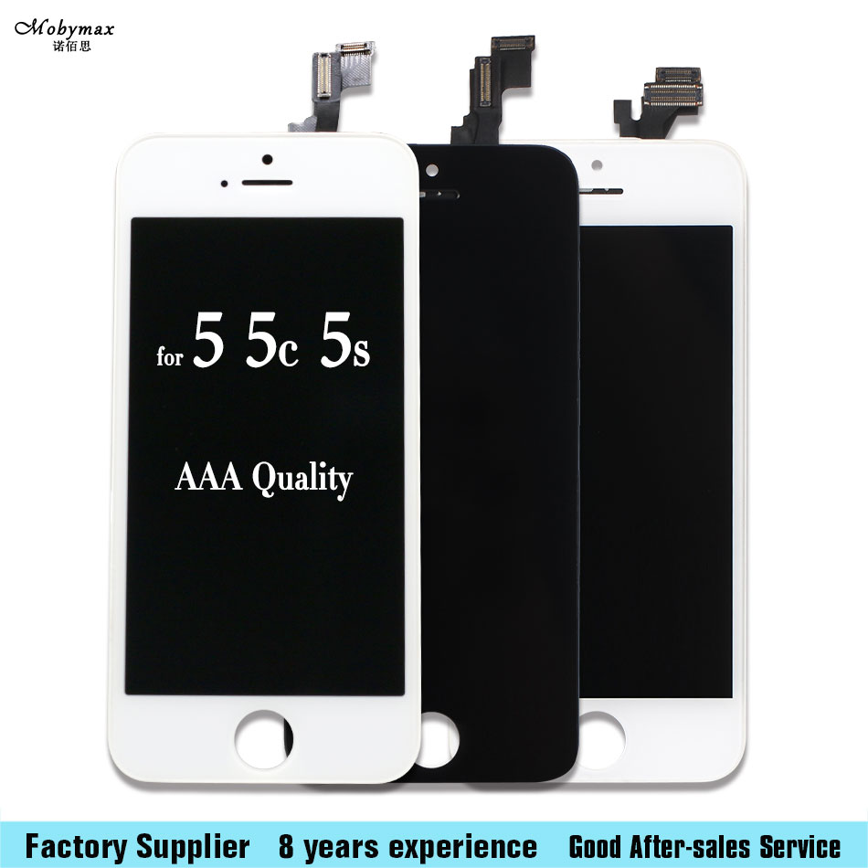 Mobymax AAA Quality LCD Screen For iPhone 5 5G 5S 5C Se Display Screen LCD Assembly With Digitizer Glass Assembly No Dead Pixel