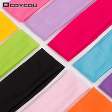 1 PCS Fashion Style Absorbing Sweat Yoga Headband Candy Color Sport Hair Band Popular Accessories for Women
