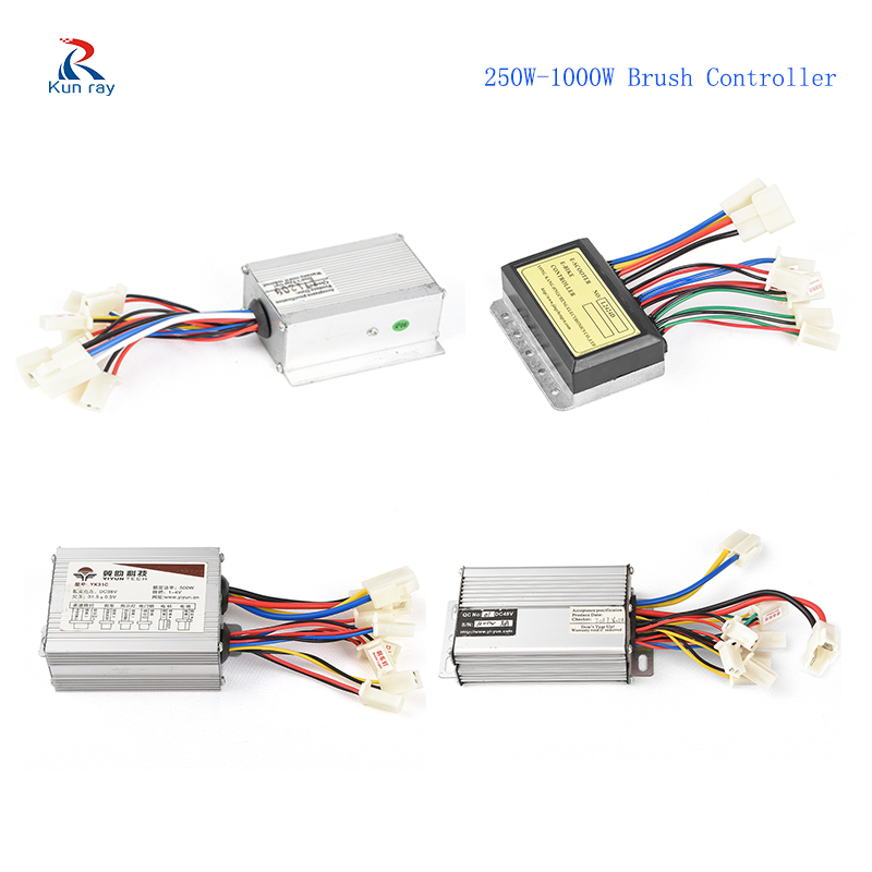 12V 24V 36V 48V 250W 350W 500W 1000W DC Electric Bike Motor Brushed Controller Box For Electric Bicycle Scooter Controller YK31C