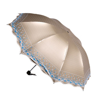 Fashion Princess Luxury Lace Umbrella Black Coating Vaulted Brand Women Umbrellas Anti UV Sunshade Creative Rain