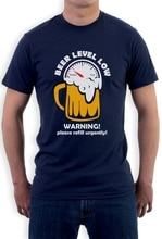 "Super cool ""Beer Level Low"" men's shirt"
