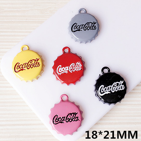 New Arrival Enamel Jewelry Pendants Drink bottle Cap Shape DIY Ornament Accessories Bracelet Necklace Keyring Floating Pendant