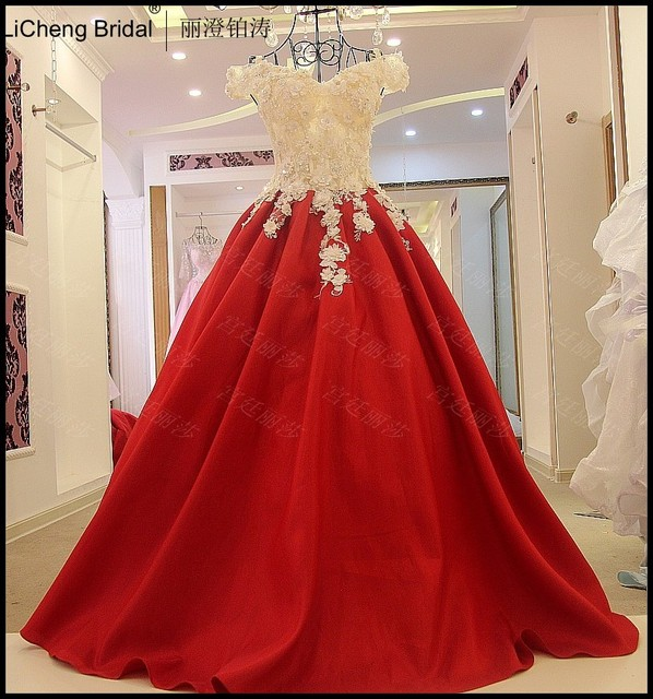 Red Sexy Backless Wedding Dresses