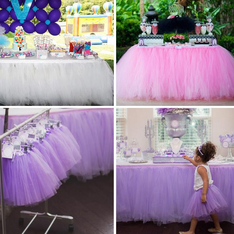 100CM Long Organza DIY Table Wear Wrapper Tutu Design Tables Yarn Skirts Bridal Carnival Prom Supplies Wd752 In From Home Garden On