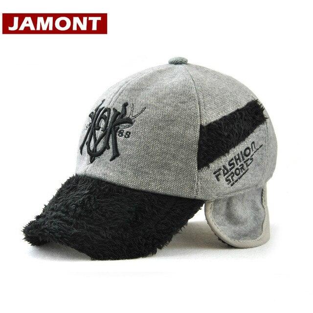 03c63a2af8ae2  JAMONT  Winter Children s Hat Snapback Warm thicken Kids Baseball Cap for Boy  Girl Windproof