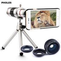 Camera Lens Phone 18x Zoom Telescope Mobile Phone Telephoto Lens With Tripod For IPhone 6 5