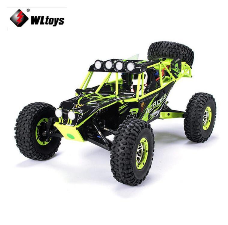 WLtoys 10428 1:10 RC Voiture 2.4g 4WD Électrique Brossé Rock Crawler RTR SUV Tout-terrain Télécommande veicoli modèle Jouet Véhicules