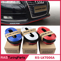 New Carbon Fiber Rubber Soft Black Bumper Strip Car Exterior Front Bumper Lip Kit / Car Bumper Strip RS-LKT006A
