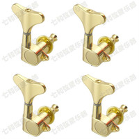 4R Gold Electric Bass Guitar Tuning Pegs Bass Guitar Machine Heads Tuning Keys Tuners Buttons For