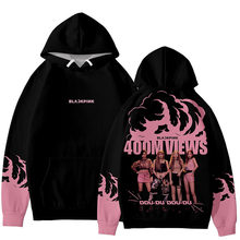 2019 Black Pink Same paragraph Hoodies Men/Women/Children Jin Zhixiu Plus Velvet Hooded Sweatshirt Men Ins Hot Tide 6XL Clothes(China)