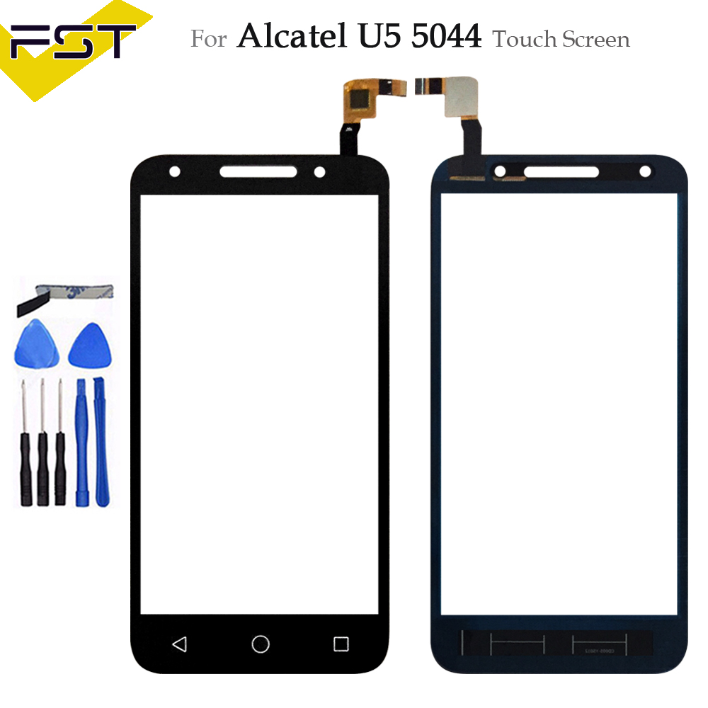 5.0''For <font><b>Alcatel</b></font> One Touch U5 5044 5044D 5044I <font><b>5044T</b></font> 5044Y OT5044 Touch Screen Digitizer Sensor Outer Glass Lens Panel image