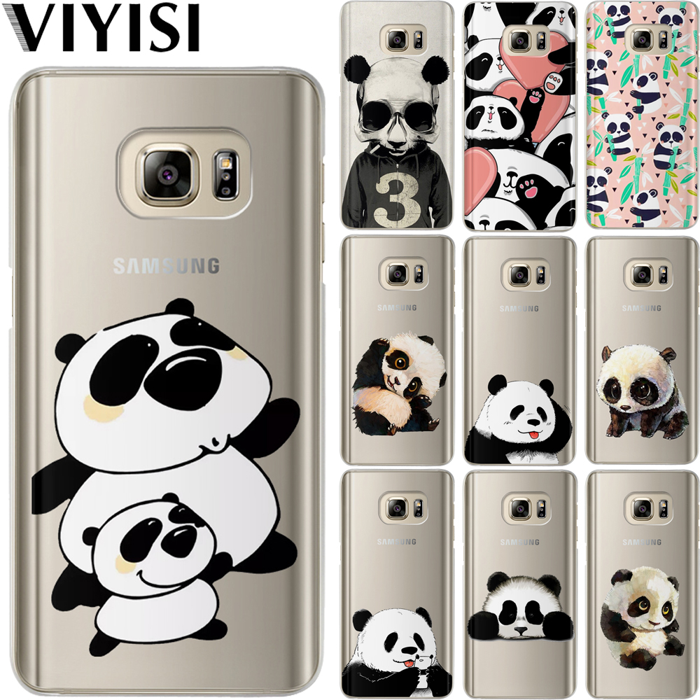 VIYISI Panda For Samsung Galaxy S8 Case J3 J5 J7 A5 A3 2017 2016 2015 S6 S7 Edge S9 Plus Soft Silicone TPU Back Carcasas Fundas in Fitted Cases from Cellphones Telecommunications
